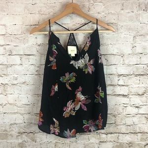 Anthropologie Maeve Floral Lace Tank Blouse Size 4